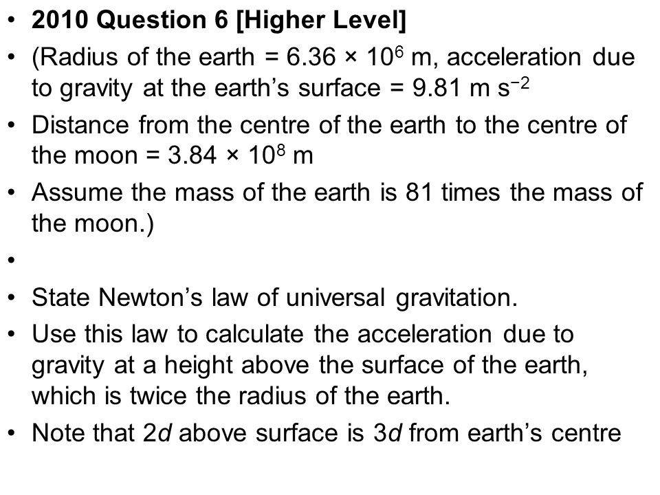 2010 Question 6 [Higher Level]